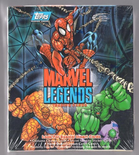 Marvel Legends Trading Cards Factory Sealed Wax Box 2001 Topps