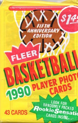 NBA basketball player photocards 1990 - packs