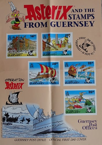 Asterix and the stamps from Guernsey
