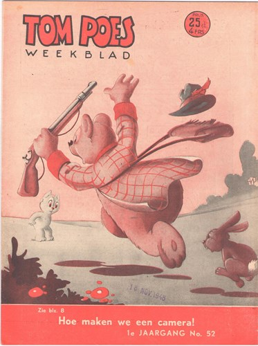 Tom Poes Weekblad - 1e Jaargang 52 - Tom Poes weekblad 1 jrg, Softcover (Maarten Toonder Studios)