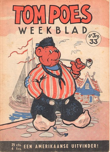 Tom Poes Weekblad - 3e Jaargang 33 - Tom Poes weekblad - 3 jrg, Softcover (Maarten Toonder Studios)