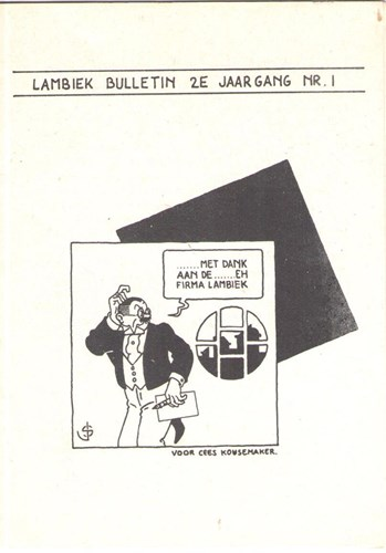 Lambiek - Bulletin 1 - tweede jaargang, Softcover (Stripwinkel Lambiek)