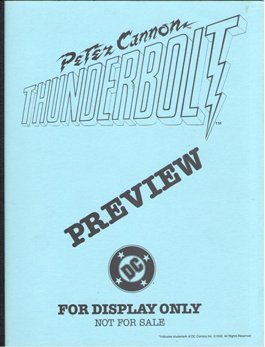 DC - Preview  - Peter Cannon: Thunderbolt, Persdossier (DC Comics)