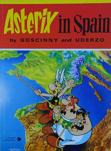 Asterix - Anderstalig/Dialect  - Asterix in Spain, Softcover, Eerste druk (1974) (Hodder and Stoughton)