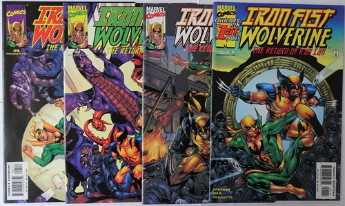 Iron Fist - Wolverine  - The return of K'un Lun - deel 1-4 compleet, Softcover (Marvel)