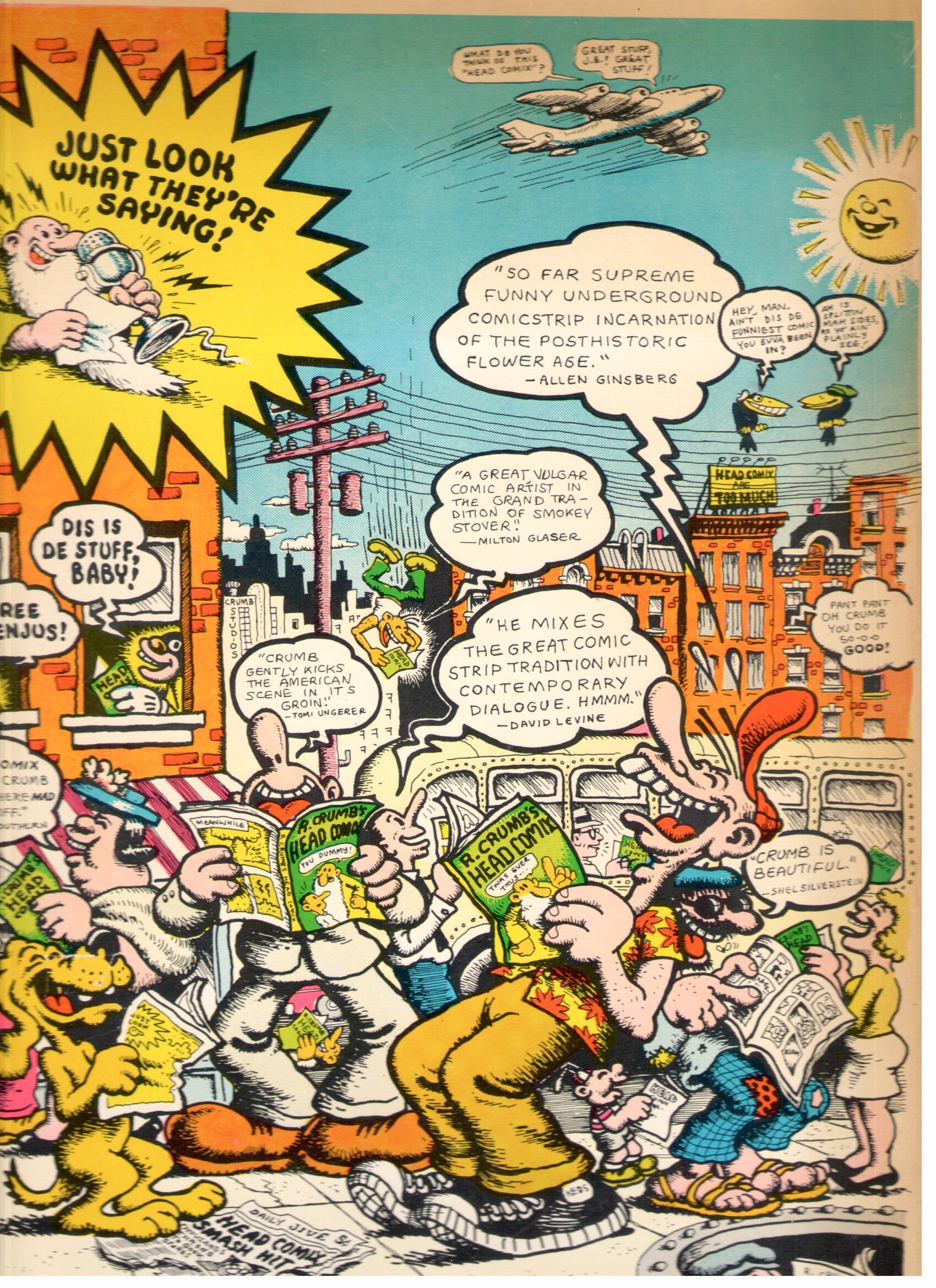 Image of: Humor R Crumbs Head Comix Tweedehands Zeer Goed Bekijk Fotos Akim Stripwinkel Akim Stripwinkel Crumb Diversen R Crumbs Head Comix